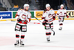 Stockholm 2014-10-14 Ishockey Hockeyallsvenskan AIK - Malm&ouml; Redhawks :  <br /> Malm&ouml; Redhawks David Liffiton och Nils Andersson deppar<br /> (Foto: Kenta J&ouml;nsson) Nyckelord:  AIK Gnaget Hockeyallsvenskan Allsvenskan Hovet Johanneshov Isstadion Malm&ouml; Redhawks depp besviken besvikelse sorg ledsen deppig nedst&auml;md uppgiven sad disappointment disappointed dejected