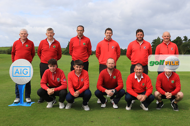 The Roscommon Team for the Final of the AIG Jimmy Bruen Shield in the AIG Cups & Shields Connacht Finals 2019 in Westport Golf Club, Westport, Co. Mayo on Sunday 11th August 2019.<br /> <br /> Picture:  Thos Caffrey / www.golffile.ie<br /> <br /> All photos usage must carry mandatory copyright credit (© Golffile | Thos Caffrey)