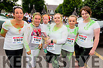 L-R Karen and Elisha Leahy, Jane and Lucke Mulchinock, Amy Doyle and Marion Lyne all from Killarney at the Kerry Colour Run in Killarney last Saturday morning.