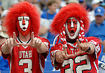 20 September 2008:   Utah fans celebrate during the Utes 30-23 victory over the Air Force Falcons at Falcon Stadium, U.S. Air Force Academy, Colorado Springs, CO.