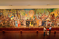 Dream of a Sunday Afternoon in the Alameda or Sueno de una Tarde Dominical en la Alameda mural by Diego Rivera in Mexico City. This mural is now housed in the Museo Mural Diego Rivera. It was painted in 1947 and was moved from the Hotel del Prado after it was destroyed by the 1986 earthquake.