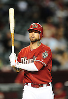 Sept. 8, 2010; Phoenix, AZ, USA; Arizona Diamondbacks outfielder Ryan Roberts against the San Francisco Giants at Chase Field. Mandatory Credit: Mark J. Rebilas-