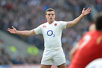 George Ford of England appeals during the RBS 6 Nations match between England and Wales at Twickenham Stadium on Saturday 12th March 2016 (Photo: Rob Munro/Stewart Communications)