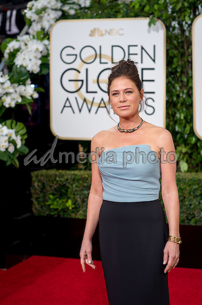 Maura Tierney arrives at the 73rd Annual Golden Globe Awards at the Beverly Hilton in Beverly Hills, CA on Sunday, January 10, 2016. Photo Credit: HFPA/AdMedia