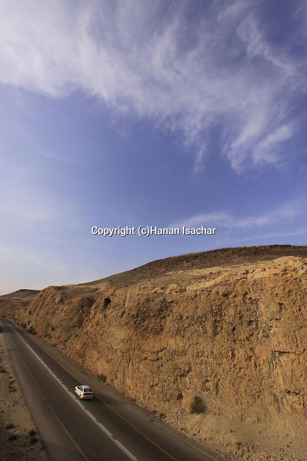 Israel, Judean Desert, Route 31, the Sodom-Arad road