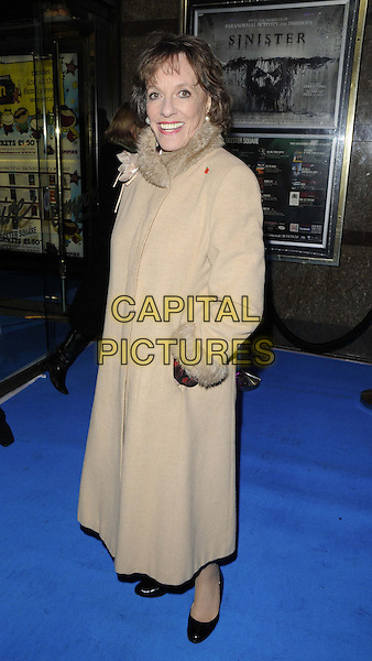 Esther Rantzen.The Grierson 2012: British Documentary Awards, Empire cinema, Leicester Square, London, England..November 6th, 2012.full length beige camel coat fur collar hand in pocket .CAP/CAN.©Can Nguyen/Capital Pictures.