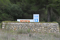 The 13th tee during the Pro-Am of the Challenge Tour Grand Final 2019 at Club de Golf Alcanada, Port d'Alcúdia, Mallorca, Spain on Wednesday 6th November 2019.<br /> Picture:  Thos Caffrey / Golffile<br /> <br /> All photo usage must carry mandatory copyright credit (© Golffile | Thos Caffrey)