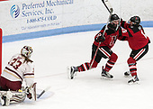 Kasidy Anderson (NU - 37), Melissa Haganey (NU - 19) -  The Boston College Eagles defeated the Northeastern University Huskies 2-1 in overtime to win the 2017 Hockey East championship on Sunday, March 5, 2017, at Walter Brown Arena in Boston, Massachusetts.