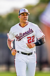 21 February 2019: Washington Nationals outfielder Juan Soto warms up during a Spring Training workout at the Ballpark of the Palm Beaches in West Palm Beach, Florida. Mandatory Credit: Ed Wolfstein Photo *** RAW (NEF) Image File Available ***