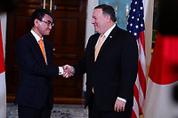 Washington, DC - June 6, 2018: U.S. Secretary of State Michael Pompeo meets with Japanese Foreign Minister Taro Kono at the State Department in Washington, D.C. June 6, 2018.  (Photo by Don Baxter/Media Images International)
