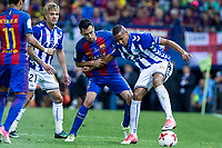 Sergio Busquets of FC Barcelona Christian Santos of Club Deportivo Alaves during the match of  Copa del Rey (King's Cup) Final between Deportivo Alaves and FC Barcelona at Vicente Calderon Stadium in Madrid, May 27, 2017. Spain.. (ALTERPHOTOS/Rodrigo Jimenez) /NortePhoto.com