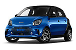 Stock pictures of low aggressive front three quarter view of 2020 Smart EQ-forfour Comfort-Plus 5 Door Hatchback Low Aggressive