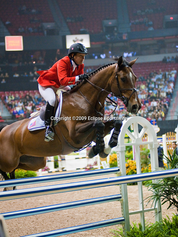 16 April 2009: Beezle Madden (USA) and Danny Boy at the Rolex World Cup Jumping Final I.