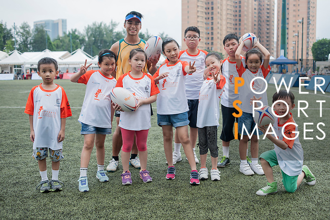 The Changing Young Lives Foundation has gathered children for a coaching session during Swire Touch Tournament on 03 September 2016 in King's Park Sports Ground, Hong Kong, China. Photo by Marcio Machado / Power Sport Images
