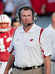 Wisconsin Badgers head coach Bret Bielema during an NCAA football game against the Northern Illinois Huskies at Camp Randall Stadium on September 5, 2009 in Madison, Wisconsin. The Badgers won 28-20. (Photo by David Stluka)