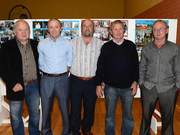 Brothers Willie, James, Paul, Michael and Sean Englishby pictured at the Englishby family gathering held in Mattock Rangers Community Centre. Photo:Colin Bell/pressphotos.ie