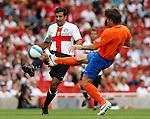 Inter Milan's Luis Figo and Valencia's David Albelda.Pic SPORTIMAGE/Simon Bellis..Pre-Season Friendly..Internazionale v Valencia..28th July, 2007..--------------------..Sportimage +44 7980659747..admin@sportimage.co.uk..http://www.sportimage.co.uk/