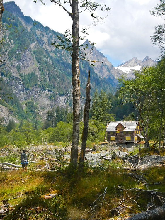 Olympic National Park, hiking, Enchanted Valley, Enchanted Valley Chalet, Quinault River, old growth, fir trees, climax forest, Olympic Peninsula, Washington State, Pacific Northwest, United States,