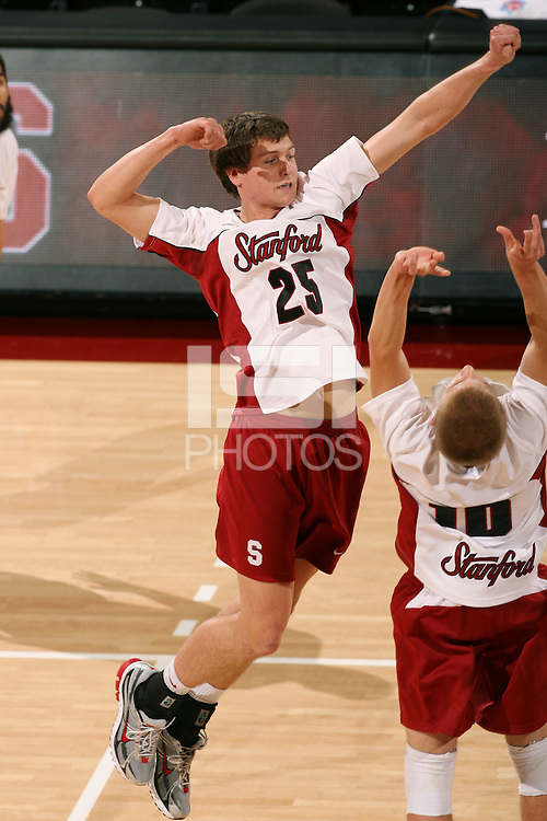 STANFORD, CA - JANUARY 30:  Gus Ellis of the Stanford Cardinal during Stanford's 3-2 win over the Long Beach State 49ers on January 30, 2009 at Maples Pavilion in Stanford, California.