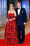"""CROWN PRINCE WILLEM-ALEXANDER AND CROWN PRINCESS MAXIMA.attend the gala farewell dinner for Queen Beatrix at the Rijksmuseum in Amsterdam, The Netherlands_April 29, 2013..Crown Prince Willem-Alexander and Crown Princess Maxima will be proclaimed King and Queen  of The Netherlands on the abdication of Queen Beatrix on 30th April 2013..Mandatory Credit Photos: ©NEWSPIX INTERNATIONAL..**ALL FEES PAYABLE TO: """"NEWSPIX INTERNATIONAL""""**..PHOTO CREDIT MANDATORY!!: NEWSPIX INTERNATIONAL(Failure to credit will incur a surcharge of 100% of reproduction fees)..IMMEDIATE CONFIRMATION OF USAGE REQUIRED:.Newspix International, 31 Chinnery Hill, Bishop's Stortford, ENGLAND CM23 3PS.Tel:+441279 324672  ; Fax: +441279656877.Mobile:  0777568 1153.e-mail: info@newspixinternational.co.uk"""