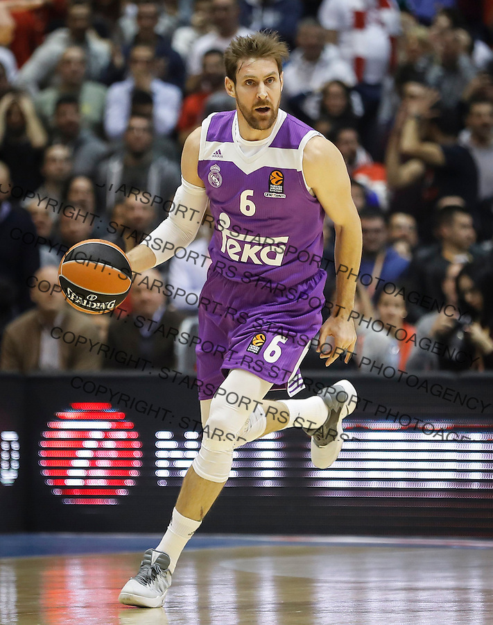BELGRADE, SERBIA - DECEMBER 22: Andres Nocioni of Real Madrid in action during the 2016/2017 Turkish Airlines EuroLeague Regular Season Round 14 game between Crvena Zvezda MTS Belgrade and Real Madrid at Aleksandar Nikolic Hall on December 22, 2016 in Belgrade, Serbia. (Photo by Srdjan Stevanovic/Getty Images)