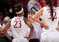 STANFORD, CA - November 3, 2013: Stanford plays Vanguard in an exhibition game at Maples Pavilion. Stanford won 79-47.