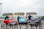 Martin, Margaret &amp; Leo standing by their car at the vintage car rally which took place last Sunday in Ballybunion. <br /> From left: Martin Lyons with his Mini Cooper.  Margaret O&rsquo;Hanlon with her VW Beetle, Leo Finucane with his Morris minor.
