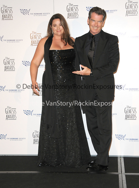 Pierce Brosnan & Keely Shaye Smith   at the The 24th Genesis Awards.Presented by The Hollywood Office of The Humane Society of the United States held at The Beverly Hilton Hotel in Beverly Hills, California on March 20,2010                                                                   Copyright 2010  DVS / RockinExposures..