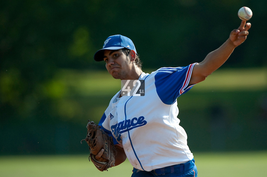 Baseball - 2009 European Championship Juniors (under 18 years old) - Bonn (Germany) - 06/08/2009 - Day 4 - Christopher Morel (France)