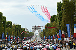 Flyover on the Champs-Elysees by the Patrouille de France during Stage 21 of the 2018 Tour de France running 116km from Houilles to Paris Champs-Elysees, France. 29th July 2018. <br /> Picture: ASO/Alex Broadway | Cyclefile<br /> All photos usage must carry mandatory copyright credit (&copy; Cyclefile | ASO/Alex Broadway)