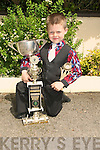 Sean Selmon Listowel the champion dancer under 7 and 10 in the Fele Cheoil Lixnaw on Saturday........