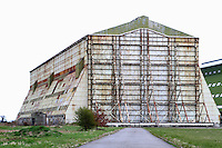 "Cardington, nr Bedford - The 94-year-old airship industry in Bedfordshire could come to an end if a planning application goes through. Plans to build 167 homes at nearby Shortstown puts the industry at risk as it is claimed it will  not be ""operationally viable""..Airships have been built and maintained at Cardington airfield since 1918 after Short Brothers was contracted to build them for the Admiralty. .The Famous Airship Hangars have also acted in recent years as a movie set for 3 Batman movies as well as remaining operational as an airfield - September 14th 2012..Photo by Keith Mayhew"