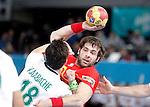 Spain's Antonio Garcia Robledo during 23rd Men's Handball World Championship. January 11, 2013. (ALTERPHOTOS/Alvaro Hernandez)