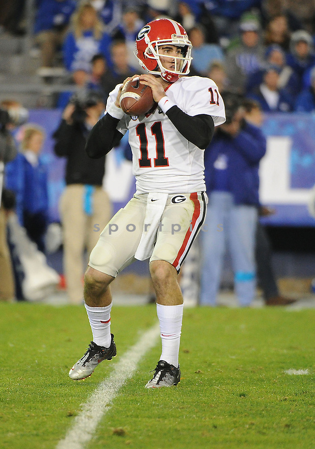 Georgia Bulldogs Aaron Murray (11) in action during a game against Kentucky on October 20, 2012 at Commonwealth Stadium in Lexington, KY. Georgia beat Kentucky 29-24.