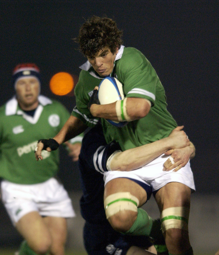 .Photo. Jed Wee.Scotland A v Ireland A, Rugby Union Friendly, Bridgehaugh, Stirling. 15/02/2003..Ireland's Donnacha O'Callaghan.