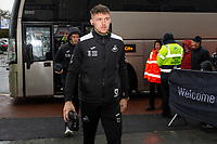 Freddie Woodman of Swansea City arrives for the Sky Bet Championship match between Swansea City and Millwall at the Liberty Stadium in Swansea, Wales, UK. Saturday 23rd November 2019