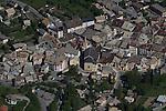 village de Guillestre vue d'ULM<br /> arial view of Guillestre vilage