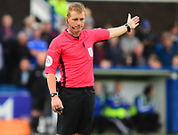 Referee John Busby<br /> <br /> Photographer Andrew Vaughan/CameraSport<br /> <br /> The EFL Sky Bet League One - Macclesfield Town v Lincoln City - Saturday 15th September 2018 - Moss Rose - Macclesfield<br /> <br /> World Copyright &copy; 2018 CameraSport. All rights reserved. 43 Linden Ave. Countesthorpe. Leicester. England. LE8 5PG - Tel: +44 (0) 116 277 4147 - admin@camerasport.com - www.camerasport.com