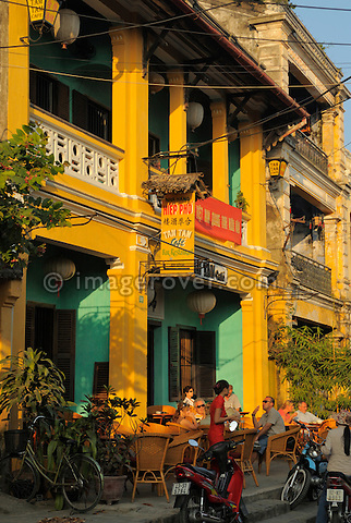 Asia, Vietnam, Hoi An. Hoi An old quarter. Tam Tam cafe on Nguyen Thai Hoc St. The historic buildings, attractive tube houses, and decorated community halls have 1999 earned Hoi An's old quarter the status of a UNESCO World Heritage Site. To protect the old quarter's character stringent conversation laws prohibit alterations to buildings, as well as the presence of cars on the roads.