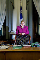 PQ leader and Quebec Premier Pauline Marois poses at her office in Quebec City Thursday November 15, 2012. The PQ is on track to deliver a Fall budget, soon after the September 4 election.
