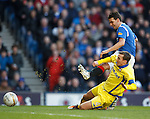 David Healy gets the ball in the net but the goal is disallowed