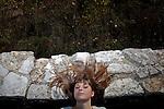 Greek student Agathi Sideri,17, in Ioannina.
