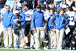 30 November 2013: Duke head coach David Cutcliffe (center). The University of North Carolina Tar Heels played the Duke University Blue Devils at Keenan Memorial Stadium in Chapel Hill, NC in a 2013 NCAA Division I Football game. Duke won the game 27-25.
