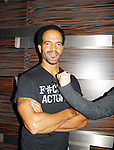 Joyce Becker's Soap Opera Festival brings actors from Young and Restless - Kristoff St. John - also with fan on September 26, 2015 to Caesers Horseshoe Casino in Baltimore, Maryland for a Q&A with fans with a drawing for lucky fans to meet the actors for autographs and photos.  (Photo by Sue Coflin/Max Photos)