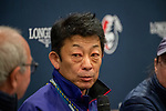 SHA TIN, HONG KONG – December 5:Trainer Yasuo Tomomichi (Middle) at the Press conference at Sha Tin Race Course in Hong Kong. Michael McInally/Eclipse Sportswire/CSM