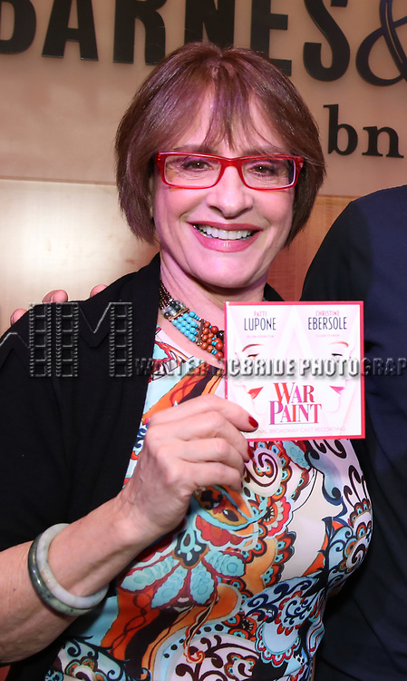 "Patti LuPone discusses ""War Paint"" On Broadway at Barnes & Noble 86th Street on July 14, 2017 New York City."
