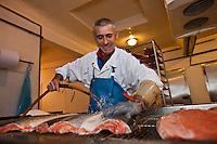 Europe/France/Aquitaine/64/Pyrénées-Atlantiques/Béarn/Pau: chez Jean-Marc Casteigt, fumeur de saumon, Maître Artisan Saurisseur - Lavage des saumons