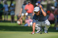 C.T. Pan (TAI) lines up his putt on 3 during round 3 of the Fort Worth Invitational, The Colonial, at Fort Worth, Texas, USA. 5/26/2018.<br /> Picture: Golffile | Ken Murray<br /> <br /> All photo usage must carry mandatory copyright credit (&copy; Golffile | Ken Murray)