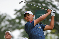 Si Woo Kim (KOR) watches his tee shot on 8 during Rd3 of the 2019 BMW Championship, Medinah Golf Club, Chicago, Illinois, USA. 8/17/2019.<br /> Picture Ken Murray / Golffile.ie<br /> <br /> All photo usage must carry mandatory copyright credit (© Golffile   Ken Murray)