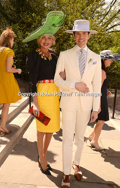 Barbara Regna and Di Mondo attends the 32nd Annual Frederick Law Olmsted Awards Hat Luncheon given by The Central Park Conservancy on May 7,2014 in Central Park in New York City, NY USA.